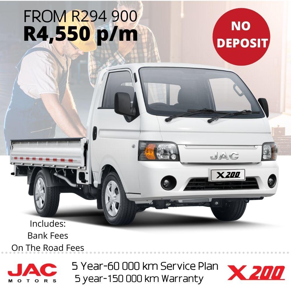 JAC X200 SC deal - JAC Motors SA